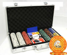 300 14G LAS VEGAS CLAY CASINO POKER CHIPS SET Y9 NEW