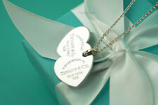 "Tiffany & Co. Sterling Return to Tiffany Double Heart Necklace 18"" (#S1049)"