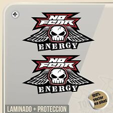 PEGATINA NO FEAR SPORT APPAREL ENERGY CAUAL WEAR STICKER AUFKLEBER AUTOCOLLANT