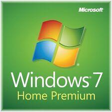 Genuine Microsoft Windows 7 Home Premium 32/64 Bit w/ New COA Computer Add-On