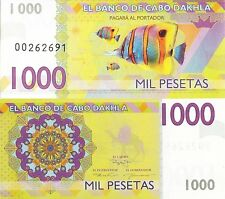 Cabo Dakhla 1000 pesetas 2013 UNC Clownfish Anemonefish - Private Issue