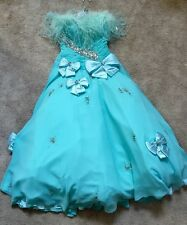 Mac Duggal Couture Strapless Teal Gown Size 6 Prom, Special Occasion