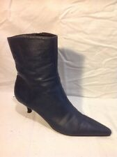 Roberto Vianni Grey Ankle Leather Boots Size 39