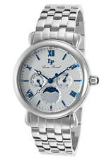 Lucien Piccard Sierra Moon Phase Mens Watch 40007-22S