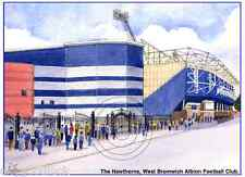 "THE HAWTHORNS WEST BROM ALBION BRUMMIE ROAD ARTISTS PRINT GREETINGS CARD 8""x 6"""