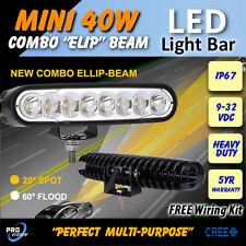 """LED Driving Lights - 6 inch 40w """"MINI"""" Professional Quality - 12v 24v 4x4 4wd"""
