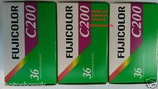 3x FUJICOLOR C200 35mm 36exp CHEAP COLOUR PRINT CAMERA FILM by 1st CLASS POST