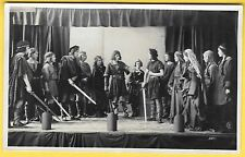 Edwardian era Postcard - People on the stage acting in the play, Macbeth.