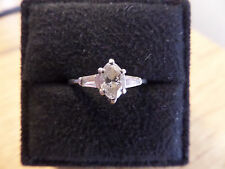 SPECIAL Platinum Classic Marquise with Side Baguette Engagement Ring