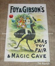 FOY & GIBSONS TIN SIGN Foys Xmas catalogue 1890 Toys advertising antique Doll