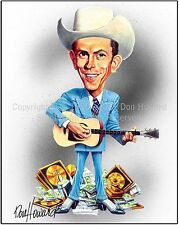 Hank Williams, Sr  Picture  Poster  Caricature Cartoon Art Print by Don Howard