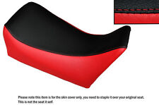 RED & BLACK CUSTOM FITS GILERA MX1 125 FRONT LEATHER SEAT COVER ONLY