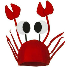 Red Novelty Lobster Crab Sea Animal Hat Costume Accessory Adult Child Cap Lovely