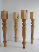 "Set of 4 Solid Knotty Pine Coffee or Side Table Legs (2 3/4"" x 2 3/4"" x 23"")"