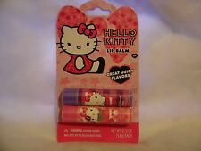 SANRIO***HELLO KITTY***Lip Balm Set Of 2~~~0.12 oz/3.5 g EACH~~~NEW~~~SEALED