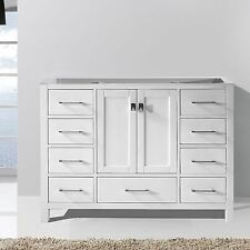 "Caroline Avenue 48"" Free Standing Bathroom Vanity Cabinet Only in White"