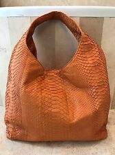 HUNTING SEASON $4800 NWOT EXCLUSIVE HUGE ORANGE PYTHON HOBO