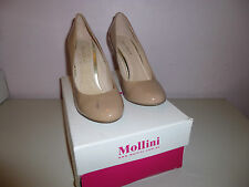 Mollini Heels Style Goldeneye in Nude Patent size 37 (New with Defects)- W1-112b