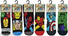 6 Pares de Calcetines al tobillo para Hombre Dibujos Animados Marvel Comics Hulk Superman Superhéroe Spiderman.