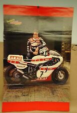 Vintage Barry Sheene Poster Motorcycle Mechanics Centerfold Yamaha TZ500 Moto GP