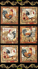 1 Half Metre Length French Country Cushion Panels - C3906 Hens, Rooster, etc