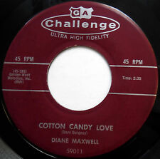 DIANE MAXWELL 45 Cotton Candy Love / Dreamy NEAR MINT Teen ROCKABILLY 1958 w3412