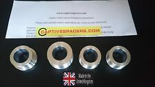Kawasaki ER6 650 2009- 2014 Captive race wheel spacers. Full wheel set. UK made.