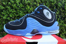 NIKE AIR PENNY II 2 SZ 9 BLACK VARSITY BLUE METALLIC SILVER 333886 005