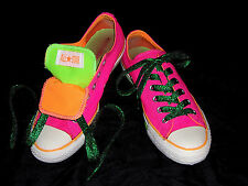 Converse All-Star Chuck Taylor Low Pink Green Orange Woman Size 9 Men Size 7
