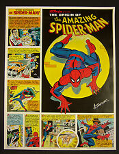 Origin of Amazing Spider-Man Coca-Cola poster signed by artist ALEX SAVIUK