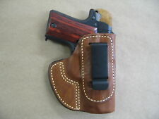 Kimber Micro 9 9mm IWB Molded Leather Concealed Carry Holster CCW TAN RH