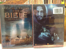 The Bible (4 dvd Set, Christmas Edition) - Epic Mini Series, New, free shipping