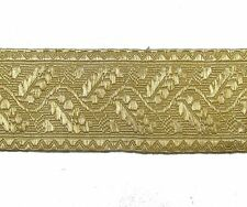 Braid Light Gold Mylar Oak Leaf 70 mm Rank marking Lace Trim Sold By Meter R0002