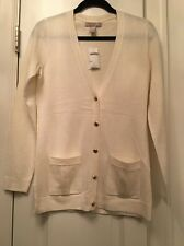 New With Tags Banana Republic Women's White Cardigan Sweater NWT Small S Career