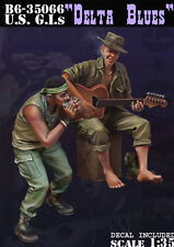 "BRAVO-6 35066 U.S. G.I's ""Delta Blues"" Nam 1/35 RESIN FIG."