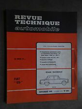REVUE TECHNIQUE AUTOMOBILE RTA FIAT 125 SIMCA 1500 1968
