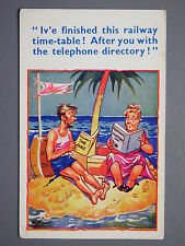 R&L Postcard: Comic HB 6265, Desert Island Railway Timetable Telephone Directory