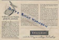 DRESDEN, Werbung 1940, Chlorodont erfrischende Qualitäts-Zahn-Paste Pasta Creme