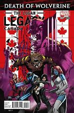DEATH OF WOLVERINE LOGAN LEGACY 1 RARE CANADA CANADIAN VARIANT NM