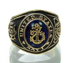 Men's 18K Gold Plated US Navy Ring Size-14 '