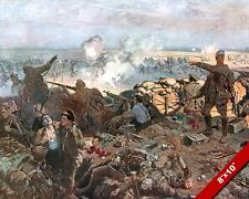 2ND BATTLE OF YPRES BELGIUM FLEMISH PAINTING WORLD WAR I ART REAL CANVAS PRINT