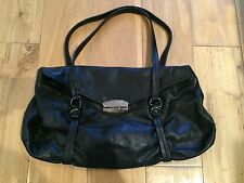 Prada Black Soft Leather Shoulder Bag Purse