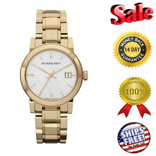 ****NEW Burberry White Dial Gold-tone Ladies Watch BU9103, Fast Shipping