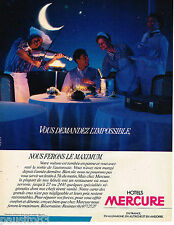 PUBLICITE ADVERTISING 055  1984  HOTELS  MERCURE