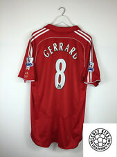 Liverpool GERRARD #8 06/08 Home Football Shirt (XL) Soccer Jersey Adidas