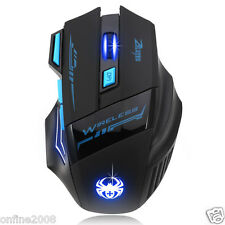 7 Buttons Wireless Adjustable 2400DPI Optical Mice Gaming Mouse For Laptop PC