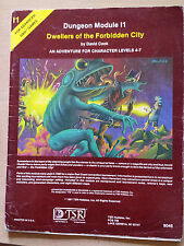 I1 dwellers of the forbidden city 1E AD&D RPG roleplaying adventure module