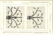 1882 Wrought Iron Hinges Doors Rouen Cathedral Ernest Sauvageot