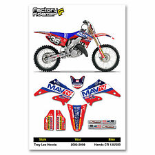 2002-2008 HONDA CR 125-250 MAVTV Dirt Bike Graphics kit Motocross Graphics Decal