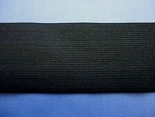 50mm Black Knitted Elastic (Soft)